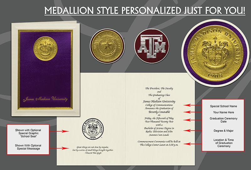 Medallion Graduation Announcement