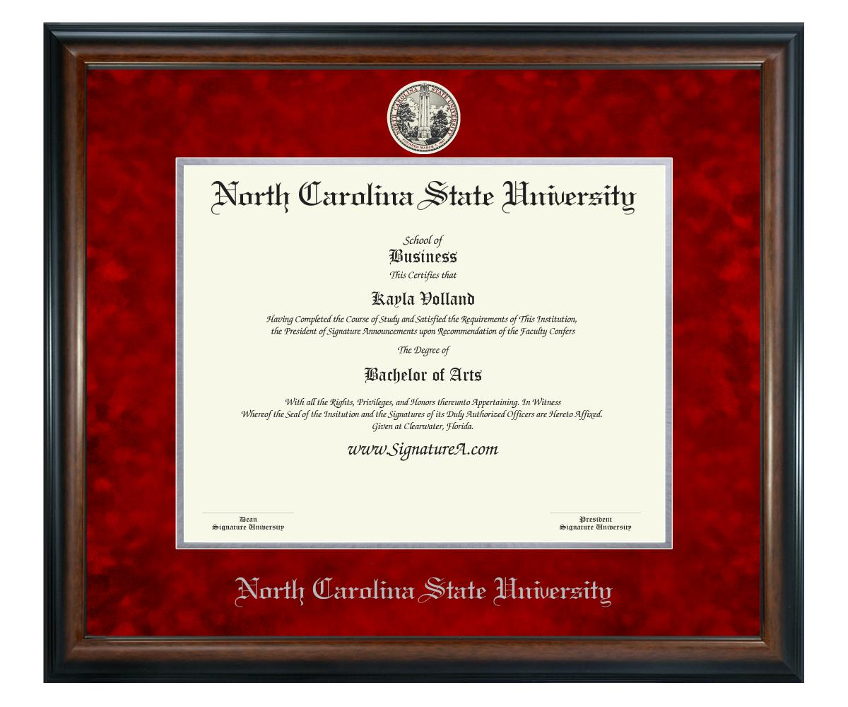 Sculpted Foil Seal /& Name Graduation Diploma Frame 20 x 20 Matte Mahogany Signature Announcements South-Carolina-State-University Undergraduate