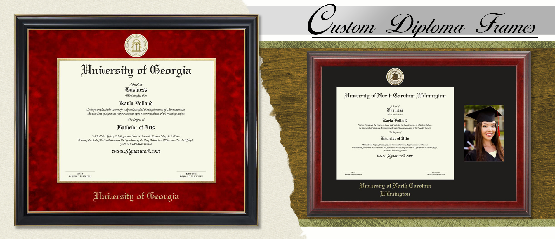Signature Announcements High-Point-University Undergraduate Sculpted Foil Seal /& Name Graduation Diploma Frame 16 x 16 Gold Accent Gloss Mahogany