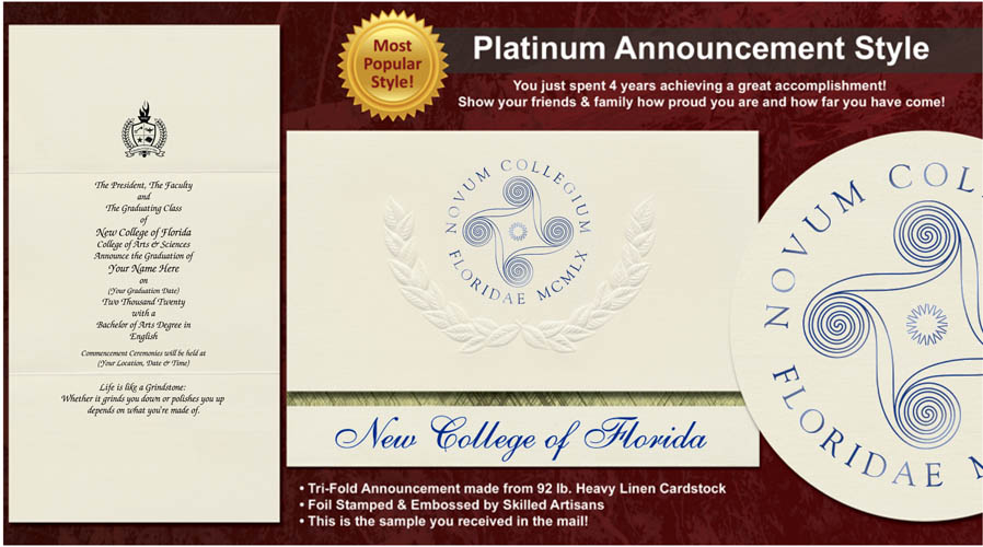 New College of Florida Graduation Announcements