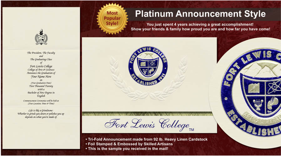 Fort Lewis College Graduation Announcements