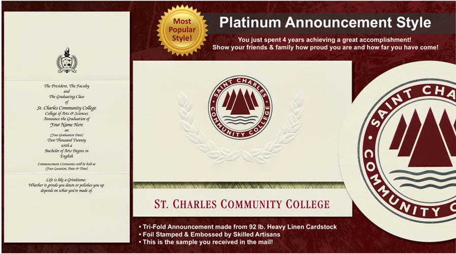 St. Charles Community College Graduation Announcements