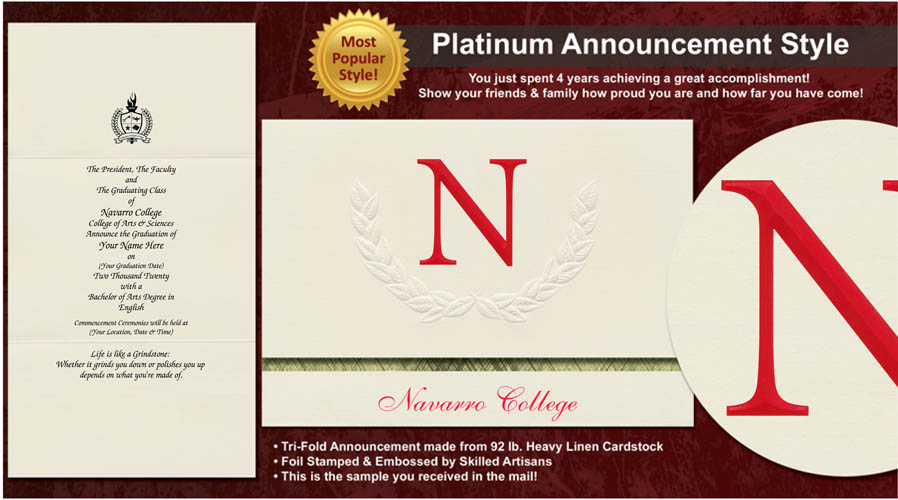 Navarro College Graduation Announcements
