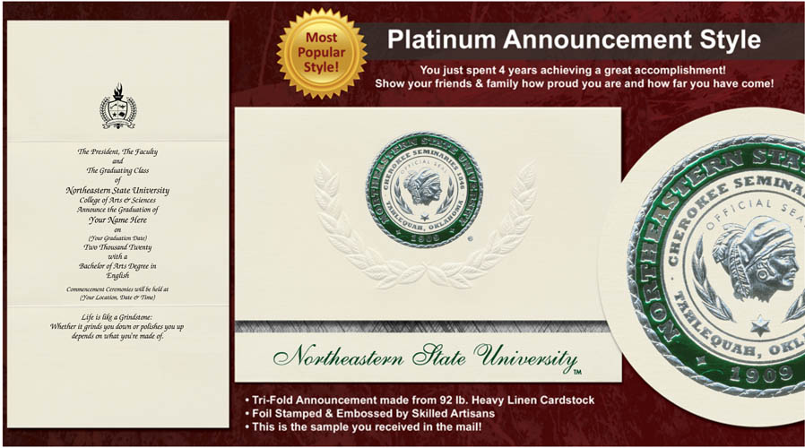 Northeastern State University Graduation Announcements
