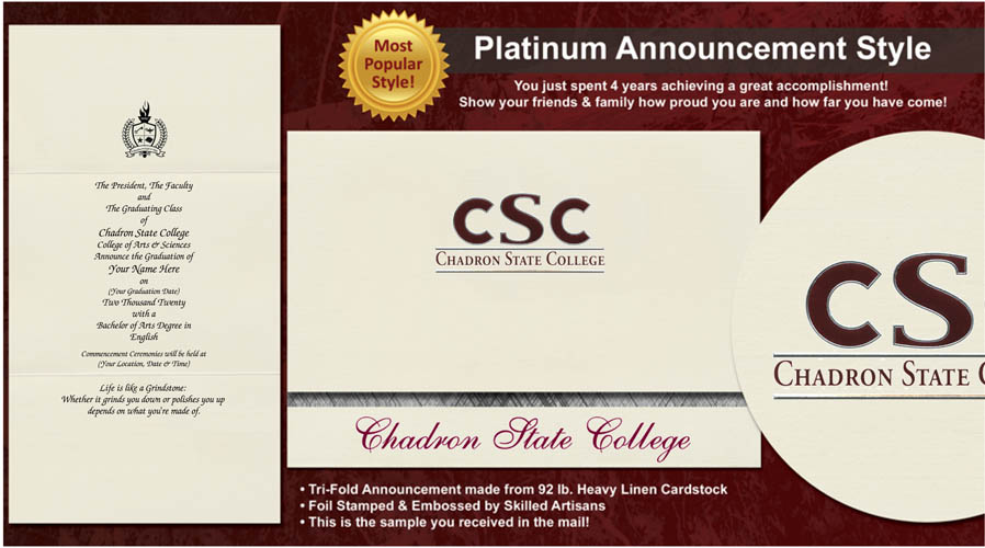 Chadron State College Graduation Announcements