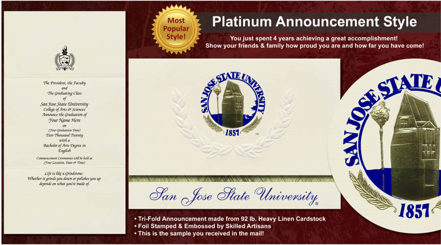 San Jose State University Graduation Announcements