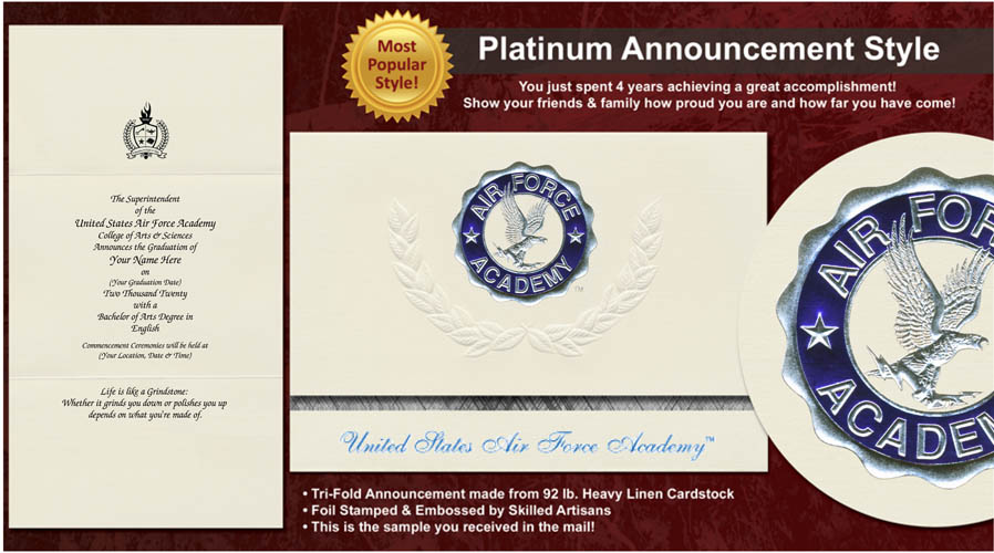 United States Air Force Academy Graduation Announcements