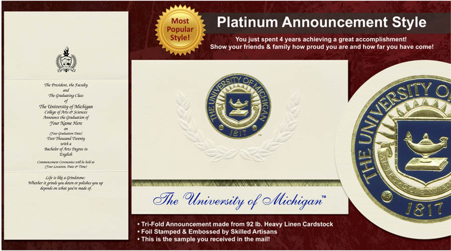 University of Michigan - Flint Graduation Announcements