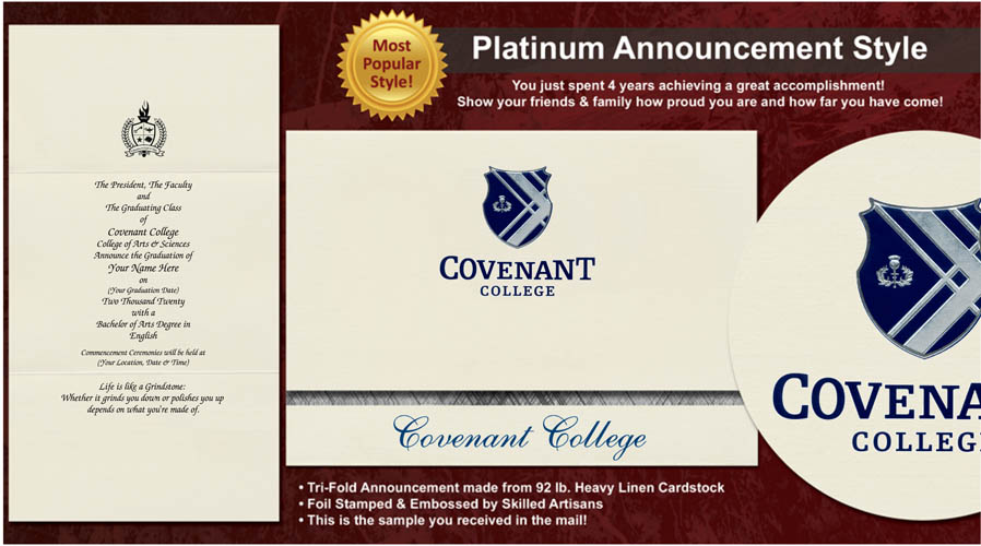 Covenant College Graduation Announcements