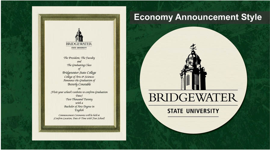 Bridgewater State University Graduation Announcements