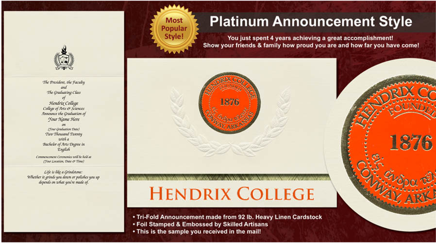 Hendrix College Graduation Announcements