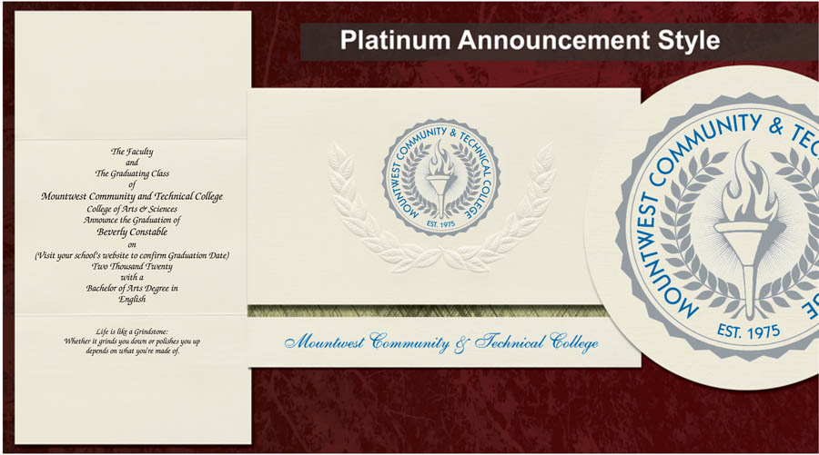 Mountwest Community and Technical College Graduation Announcements