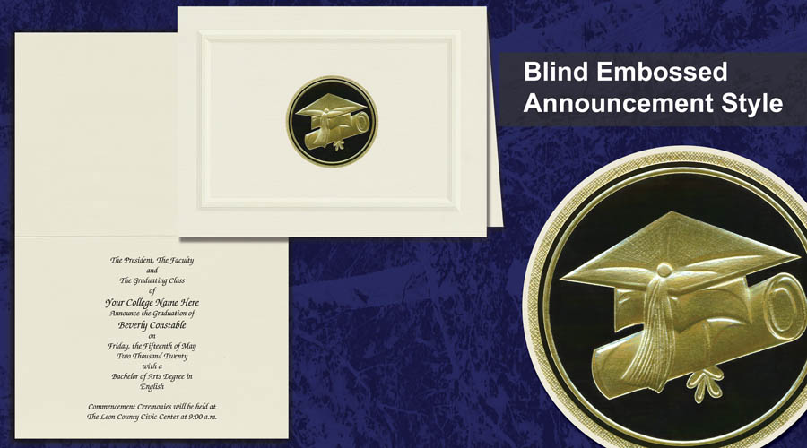 Blind Emboss Announcement Image